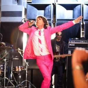 Tracey Bond 007 says Happy Pink Micky Miraj Monday! Mick Jagger shows off figure…via Bang Showbiz:Glam Life