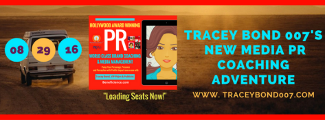 Announcement- My #NewMedia + #PR #Coaching #Adventure Begins August 29th, 2016. Seats are loading now - be sure you've signed up for this opportunity at http-%2F%2FTraceyBond007.com