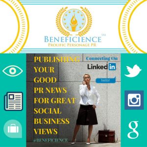 Book BeneficiencePublicRelations.com today for your next level of social public relations for prolific personage PR... BeneficiencePublicRelations.com BLOG: Beneficience.com T: @BENEFICIENCE