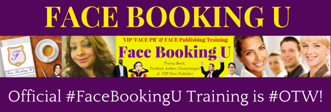"#Facewerk profession training now via ""FaceBookingU: VIP Face Publishing"" by Tracey Bond ^007^ on Amazon.com"
