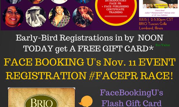 #PRALERT: #FaceBookingU Certificate Training Event Hosts #FacePR Flash Race To…