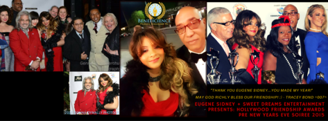 Tracey Bond Hollywood Publicist at Beneficience.com PR - Eugene Sidney's Hollywood Friendship Awards 2015 & Pre New Years Eve Soiree