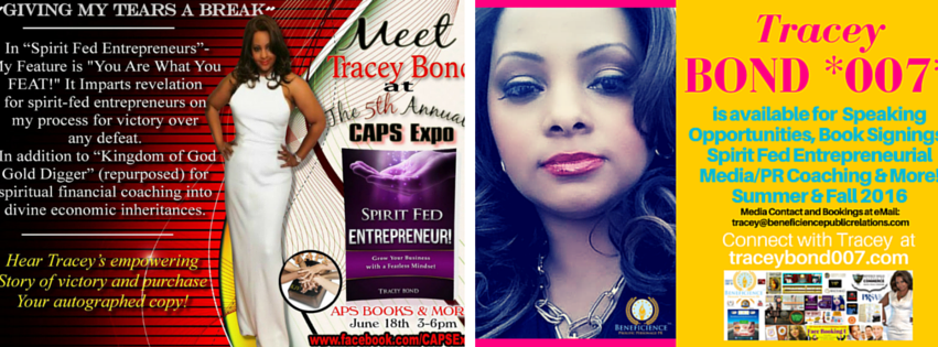 Meet Amazon Bestselling Book Author Tracey Bond at Chicago Book Signing Saturday June 18th, 2016 - More at TraceyBond007.com