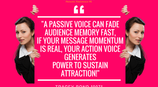 """A #passivevoice can fade audience memory fast…but your action voice generates___?"