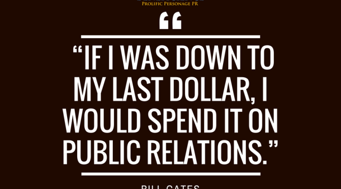 """If I was down to my last dollar, I would spend it on…"" – Bill Gates"