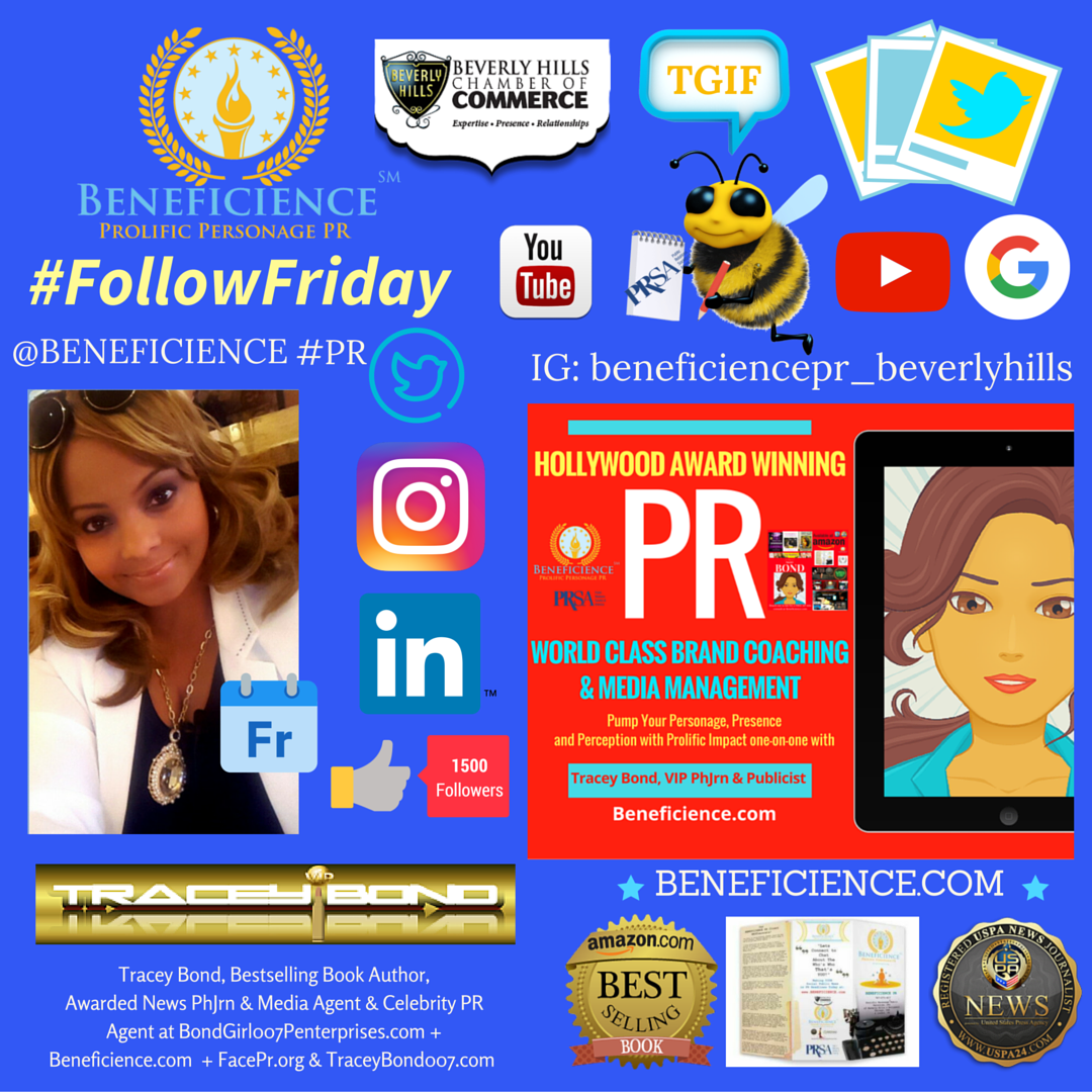 Tracey Bond is shouting TGIF on #FollowFriday Lets Connect and share the Friday festivities wherever you connect social @tracey007bond @Beneficience PR.png