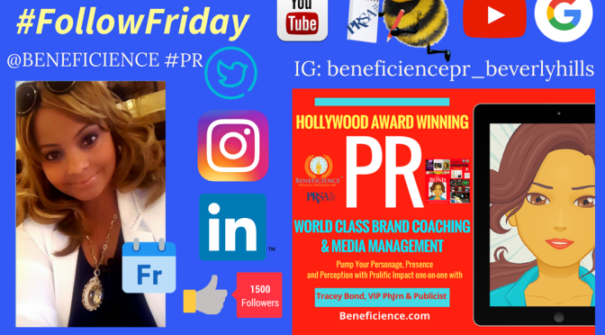 Its #FollowFriday at Beneficience.com Pr + TraceyBond007.com