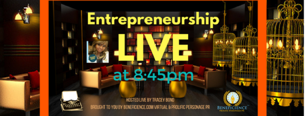 ENTREPRENEURSHIP LIVE at 8.45pm CT Business Page Cover