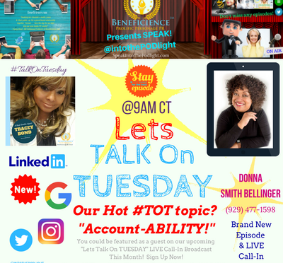 Today I'm ON-AIR at 9amon SpeakintothePODlight for Let's #TalkOnTuesday with a special guest…