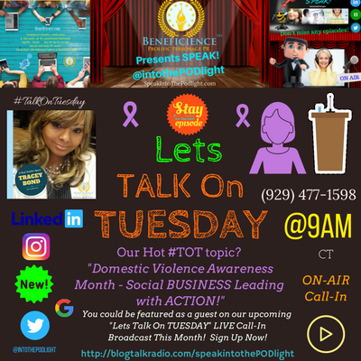 Copy of Our Hot #TOT topic- #TalkOnTuesday DVAM - Social Business Leading with Action!logTalkRadio.com%2FSpeakIntoThePodlight.png