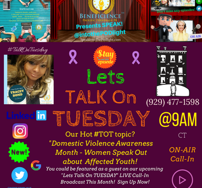Listen to Episode 81 of SpeakIntoThePOdlight PR Rasio Show's Lets #TalkonTuesday – DVAM