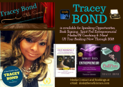 Tracey Bond 007 Speaking opportunities Book Signings & More! TraceyBond007.com Beneficience.com Public Relations 2017-2018