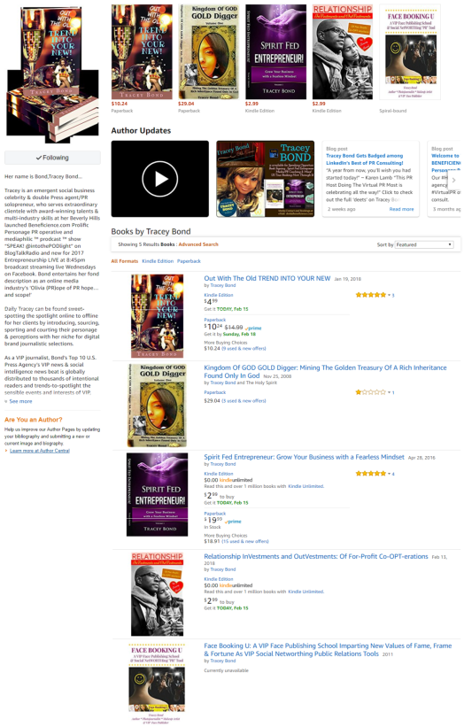 Screenshot - Books By Tracey Bond on AMAZON